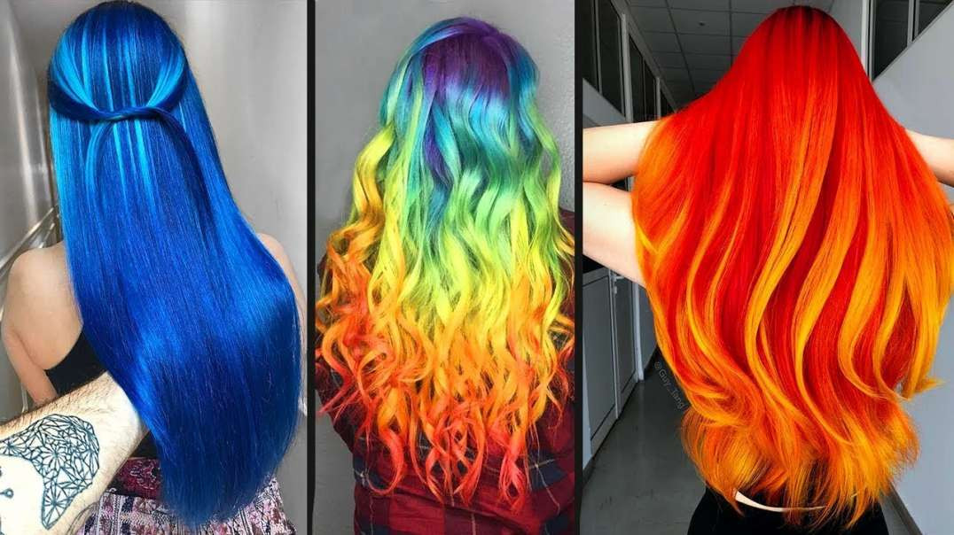 Amazing Hair Color Transformation For Long Hair! - Rainbow Hairstyle Tutorials Compilations