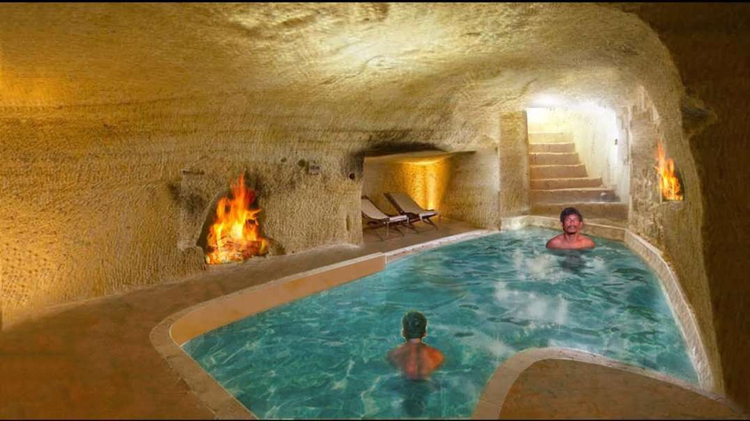 How To Build Underground Temple Swimming Pool and Underground House