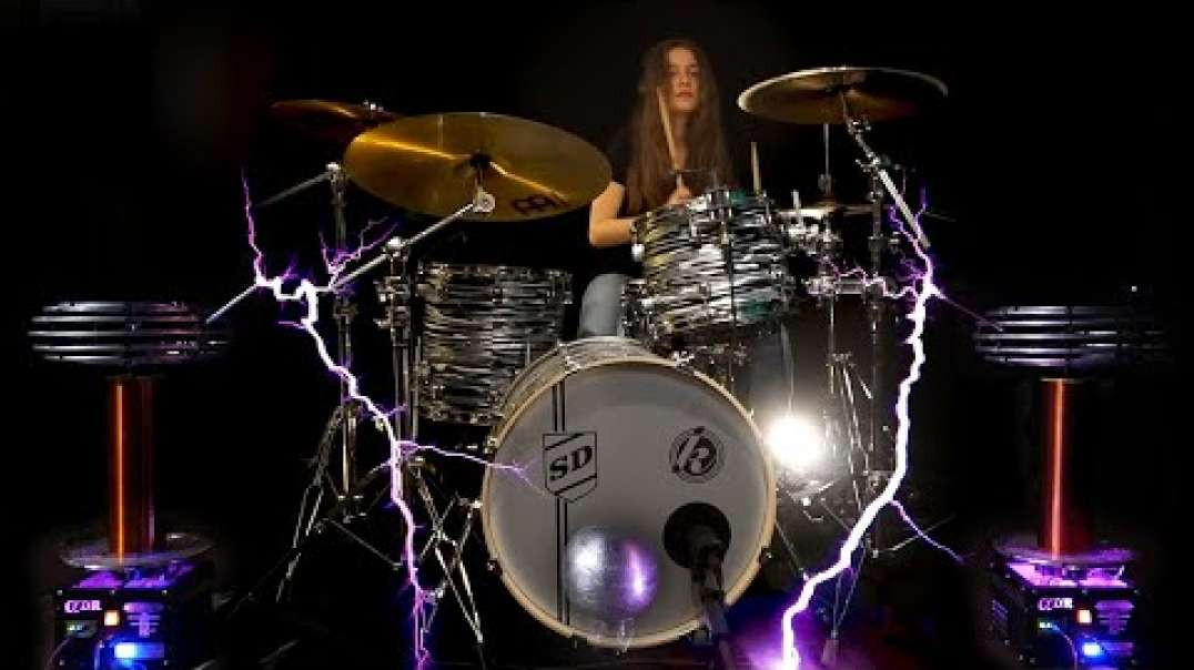 Axel F on Tesla Coils and Drums