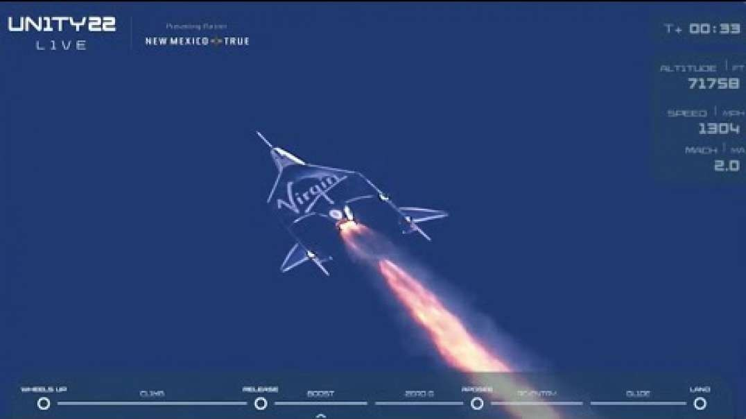 See Virgin Galactic Unity 22 with Richard Branson soar to space and back!
